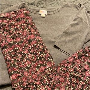 Lularoe Irma and OS leggings